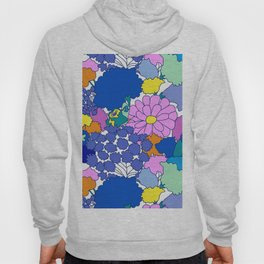 Far-Out 60's Floral in White Hoody
