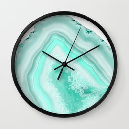 Soft Turquoise Agate Dream #1 #gem #decor #art #society6 Wall Clock
