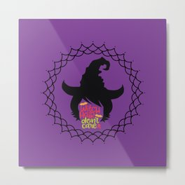 Witch Hair Don't Care-Purple Metal Print