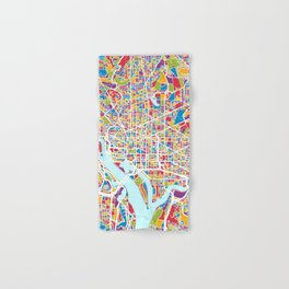 Washington DC Street Map Hand & Bath Towel