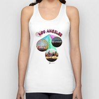 movie posters Tank Tops featuring Los Angeles—Movie Poster Edition by laloveshirts