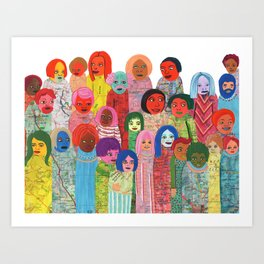 All the People Art Print