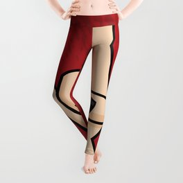Heavy Metal Devil Horns Hand Sign Leggings
