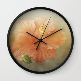 Warm Hibiscus Wall Clock