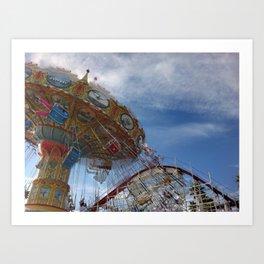 Swings and Coaster Art Print