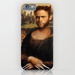 Hugh Jackman Mona Lisa Face Swap iPhone Case