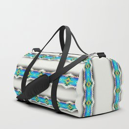 in turquoise Duffle Bag