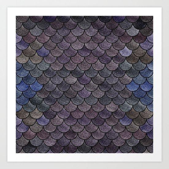Lovely Pattern II(Glitter Version) Art Print
