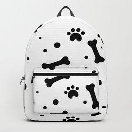 Dog's paw print and bone seamless pattern Backpack