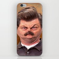 swanson iPhone & iPod Skins featuring Swanson by Jason Seiler
