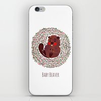 beaver iPhone & iPod Skins featuring Baby Beaver by haidishabrina