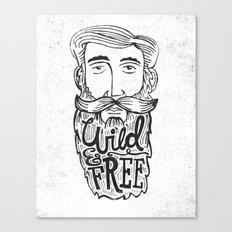 WILD MAN, FREE MAN Canvas Print