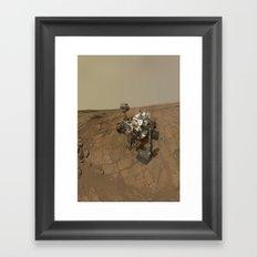 NASA Curiosity Rover's Self Portrait at 'John Klein' Drilling Site in HD Framed Art Print