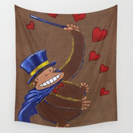 Valentine Magician Ape Wall Tapestry
