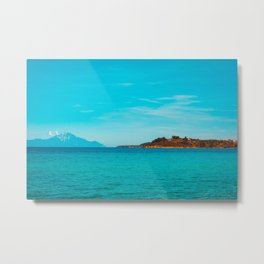 Some mountains in the sea Metal Print