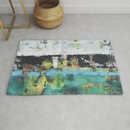Aloe Abstract Painting Green Rug