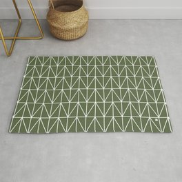 CHEVRON TRIANGLES - OLIVE Rug