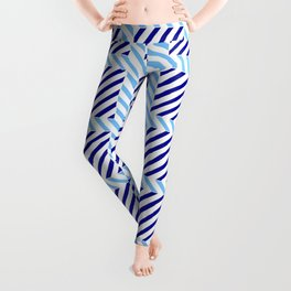 optical pattern 70 blue Leggings