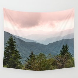 Great Smoky Mountain National Park Sunset Layers III - Nature Photography Wall Tapestry