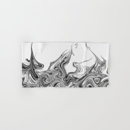 Modern contemporary Black and White Abstract Hand & Bath Towel