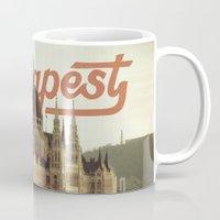 budapest Mugs featuring Budapest by Amigo Vic