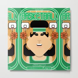 Basketball Green - Alleyoop Buzzerbeater - Amy version Metal Print