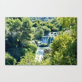 Waterfall in Krka NP - Croatia Canvas Print