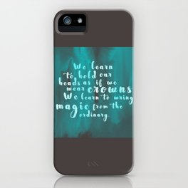 Hold Our Heads iPhone Case