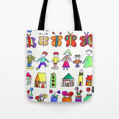 children at home Tote Bag