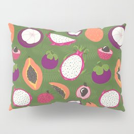 Green tropical fruits pattern Pillow Sham