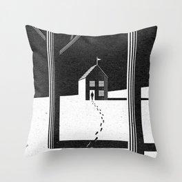 Walking Home/Deposit NY Throw Pillow