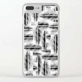 geometric ink Clear iPhone Case