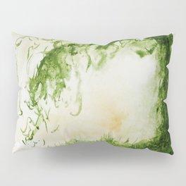 Green Sap Green WaterColour Tree by CheyAnne Sexton Pillow Sham