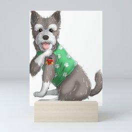 I Love Mom Tattoo Schnauzer Dog Mini Art Print