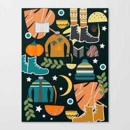Autumn clothing Canvas Print
