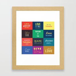love messages Framed Art Print
