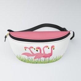 Cuban Pink Flamingos Fanny Pack