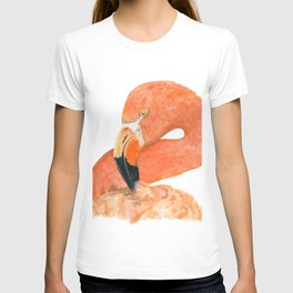 Breezy Flamingo by Teresa Thompson T-shirt