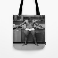 chef Tote Bags featuring Hot Chef by SalAnthony