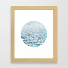 Pastel Seas Framed Art Print