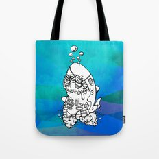 Shark's submarine Tote Bag