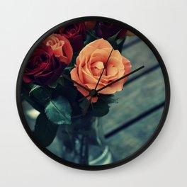 Most Beautiful Roses Wall Clock