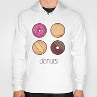 donuts Hoodies featuring Donuts by Monstruonauta