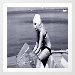Actress Elke Sommer in the Cote d'Azur 1960's Art Print