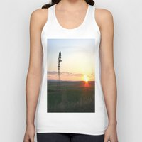 montana Tank Tops featuring Montana Sunset by Kim Ramage