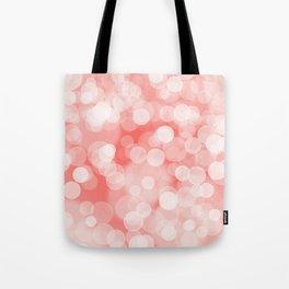 Coral Bokeh Tote Bag