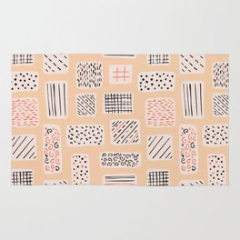 Abstract Geometric Doodle Shapes Rug
