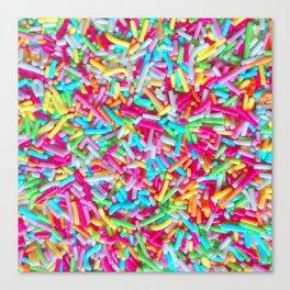 Candy Sprinkle Pattern Canvas Print