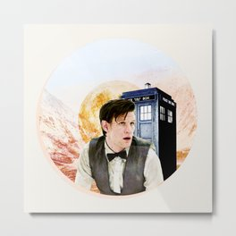 Doctor Who Eleventh Doctor Circle Graphic Metal Print