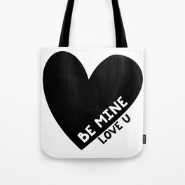 Black heart Tote Bag